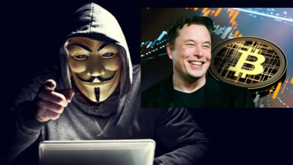 Anonymous amenazó a Elon Musk por desplome del Bitcoin