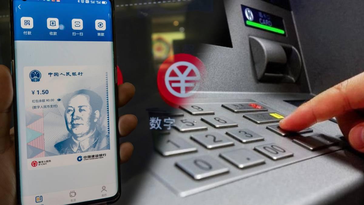 Yuan digital está disponible en más de 3.000 cajeros Chinos