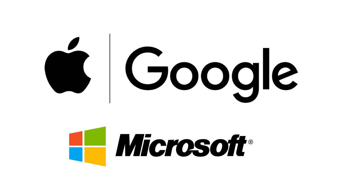 Acciones de Google, Apple y Microsoft suben por ventas récord