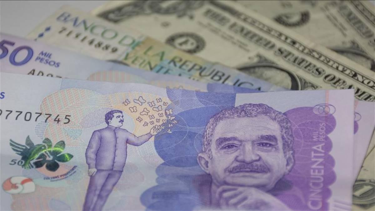 Peso colombiano cae a mínimos: dólar cotiza a mas de $3.912